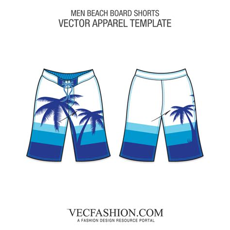 Men Templates Page 5 Vecfashion Board Shorts Template