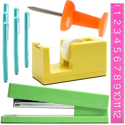 colorful office supplies poppin cool hunting