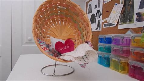 diy ag sized hanging chair doll furniture youtube