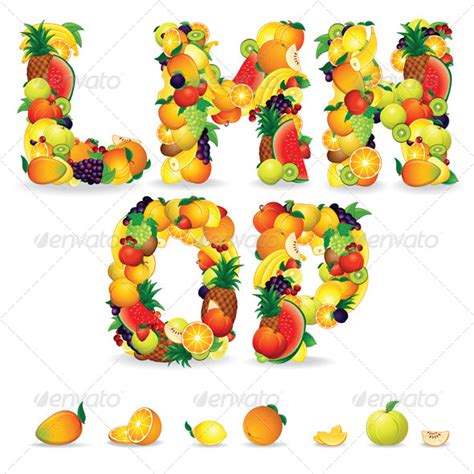 fruit 3 letters gallery for gt tropical alphabet letters clipart