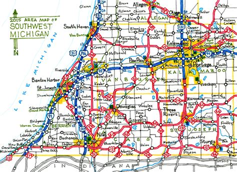 road map of michigan road map lower michigan pictures to pin on pinsdaddy