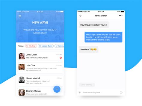 mobile messaging app mobile wireframe prototyping templates gui kits free