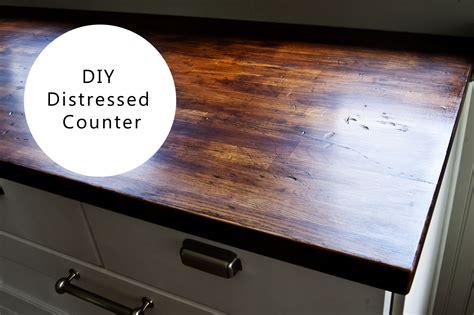 diy wood countertops ikea diy distressed wood counter buckhouse
