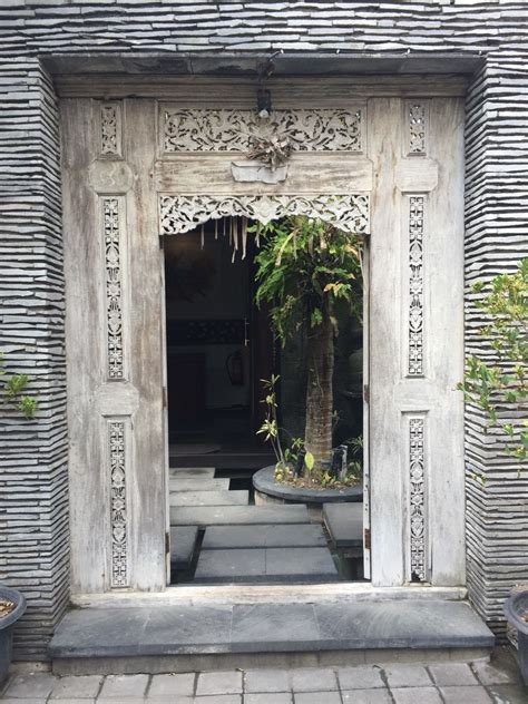 indonesia home decor this carved teak door makes a beautiful entrance java