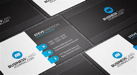 blue business card template free business card templates