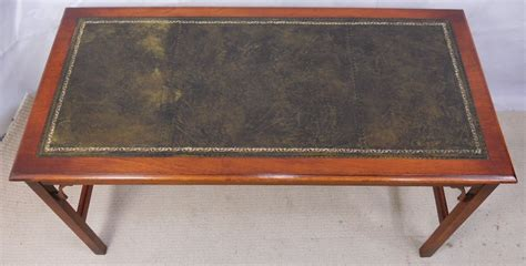 leather table top georgian style leather top coffee table