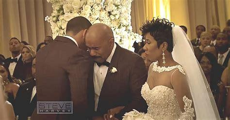 steve harvey daughter wedding steve harvey loses it on daughter s wedding day what he