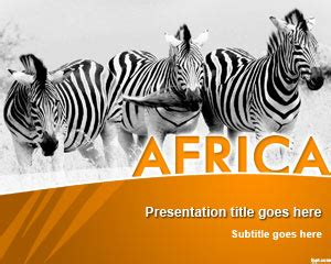 Africa Powerpoint Template Africa Powerpoint Template