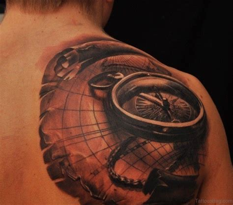 amazing compass tattoos  shoulder