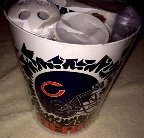 chicago bears bathroom set 1000 ideas about da bears on pinterest chicago bears