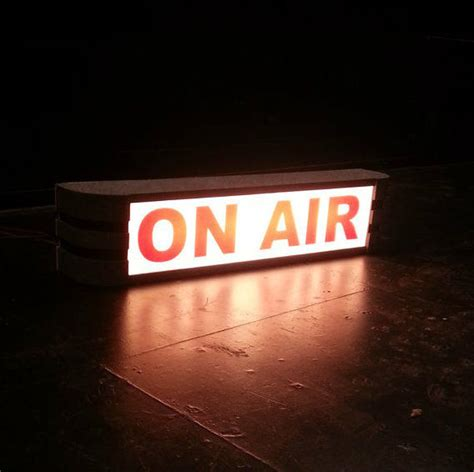 on air sign light theatrical quot on air quot sign