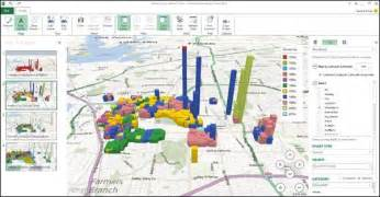 us map charts with excel visualizing point based business intelligence data on