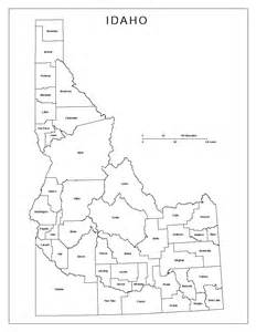 Idaho County Map Outline by Idaho Labeled Map