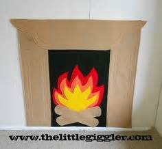 How To Make A Fireplace Out Of Paper - make your own fireplace all you need poster board