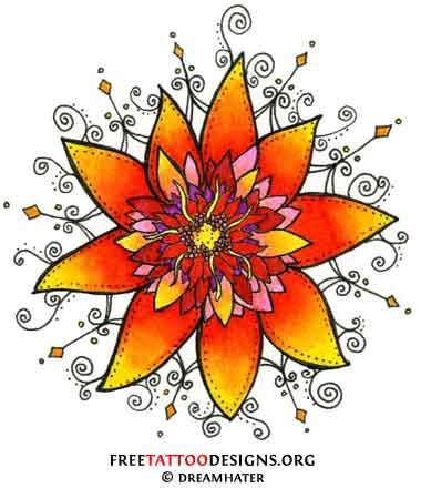 flower tattoo flash tattoos pictures 25 spectacular flower and