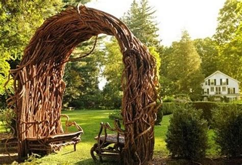 Garden Arch Made From Branches Nell Wooden More Twig Arbor Plans