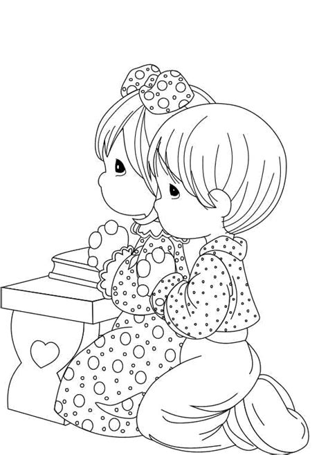 Free Coloring Pages Of Praying Children Children Praying Coloring Page