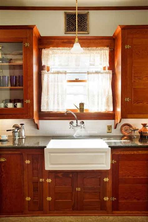 restored cabinets in a renovated craftsman kitchen