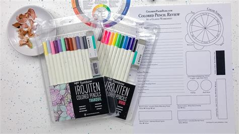 irojiten colored pencils tombow irojiten colored pencils review