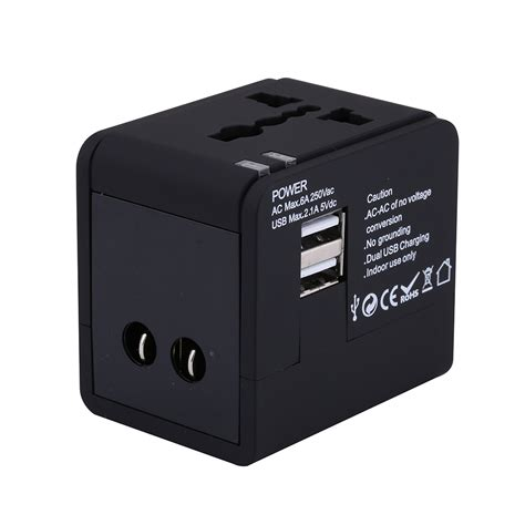 Travel Adapter Universal 2port Usb 1a universal 2 1a usb port ac world travel charger adapter international adapter converter to