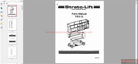 stratolift trx13 parts manual auto repair manual forum