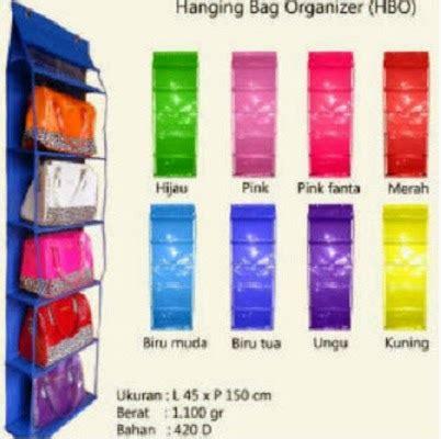 Hbo Hanging Bag Organizer Rak Tas Gantung 1 aneka rak gantung dan dompet hanging organizer wallet