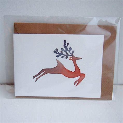 Handmade Reindeer Cards - handmade watercolour reindeer card by kabinshop