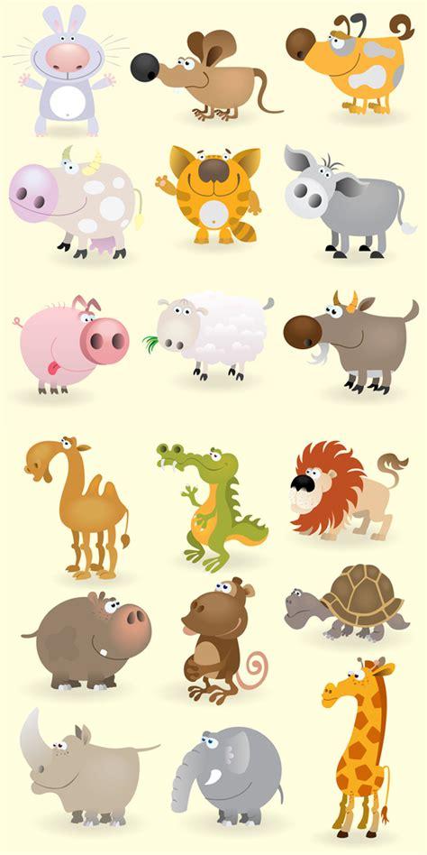 imagenes infantiles animales dibujos de animales vectorizados con estilo cartoon