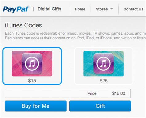 Sell Gift Cards For Paypal Instantly - paypal launches digital gifts store now selling itunes vouchers imore