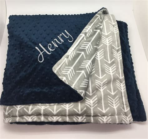 Monogrammed Baby Shower Gifts by Personalized Baby Boy Blanket Monogrammed Gift For Boys
