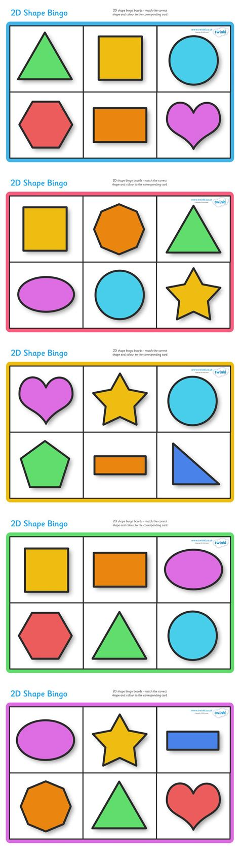 printable games for the classroom twinkl resources gt gt 2d shape bingo gt gt classroom printables