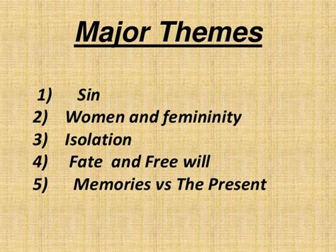 scarlet letter major themes themes and symbol in the scarlet letter