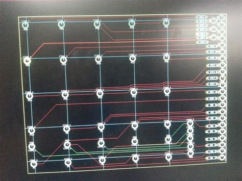 pcb layout game 5x5 led display snake game mbed
