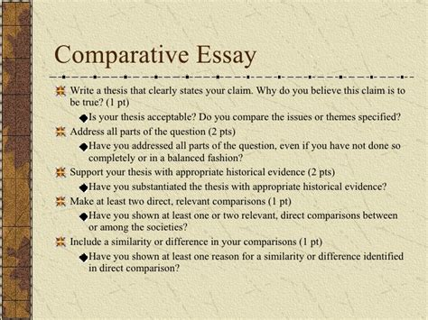 Ap World History Comparative Essay Exle by Ubru At Home Ap World History Comparative Essay Help