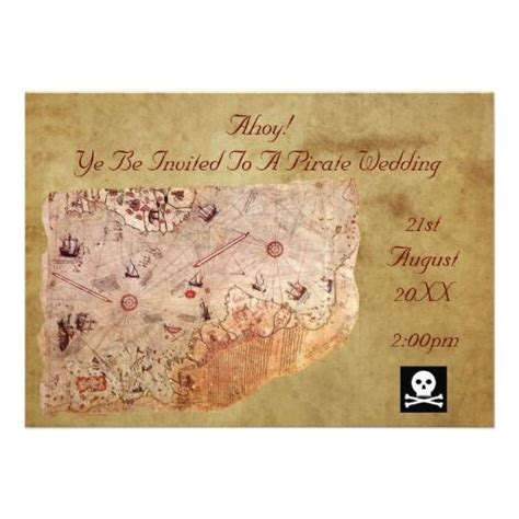pirate themed wedding invitations 20 best images about treasure map invitation template on paper birthdays and