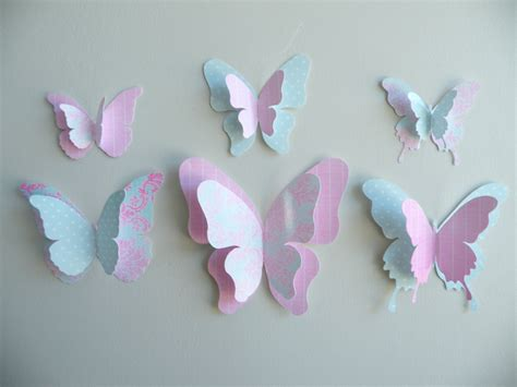 3d Decorations To Make Out Of Paper - 3d butterfly wall decor quot pinkicing set felt