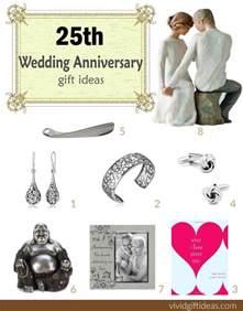 25th wedding anniversary gift ideas vivid s