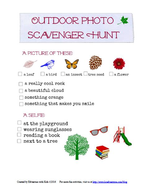 Backyard Scavenger Hunt Ideas Outdoor Photo Scavenger Hunt Edventures With