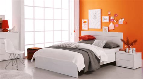 orange feature wall bedroom awaken your decor with an orange infusion domayne style
