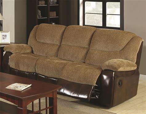 two tone reclining sofa cheers sofa houston dual two tone