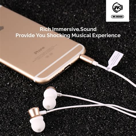 wk design wi300 in ear 3 5mm metal stereo high fidelity wired earphone with mic alex nld