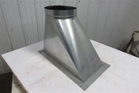 galvanized rectangle   transition duct