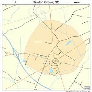 newton grove carolina map 3747020