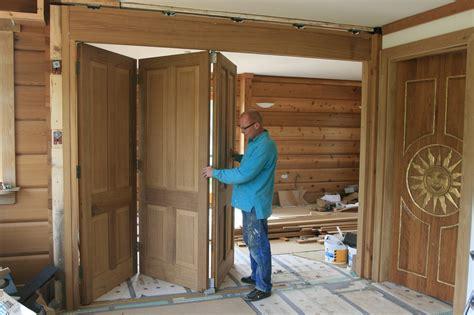 Sliding Internal Doors For The Log House Ecologhouse