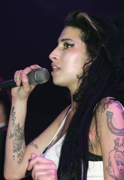 lip tint tattoo amy jean celebrity tattoos amy winehouse arm tattoos lightning