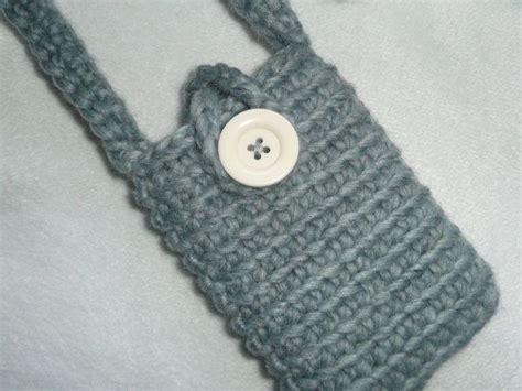 crochet pattern phone bag grey crochet cell phone pouch w shoulder strap grey
