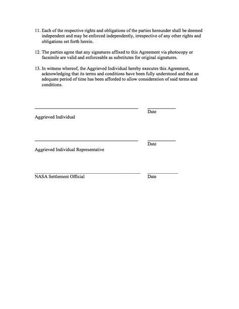 mediation settlement agreement template 11 best images of grievance settlement agreement template