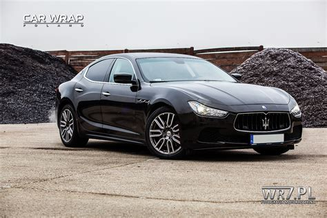 maserati metallic maserati ghibli 3m gloss black metallic 187 car wrap poland