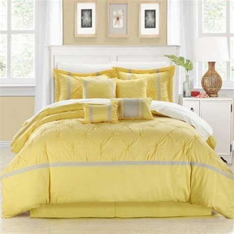 yellow comforter sets king details about chic home bedding vermont yellow 8 piece