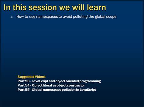 javascript namespace pattern tutorial sql server net and c video tutorial namespaces in